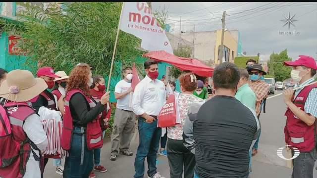 se registran agresiones entre brigadistas de candidatos de morena y mc en nezahualcoyotl