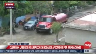 terminan labores de limpieza por inundaciones en ixtapaluca