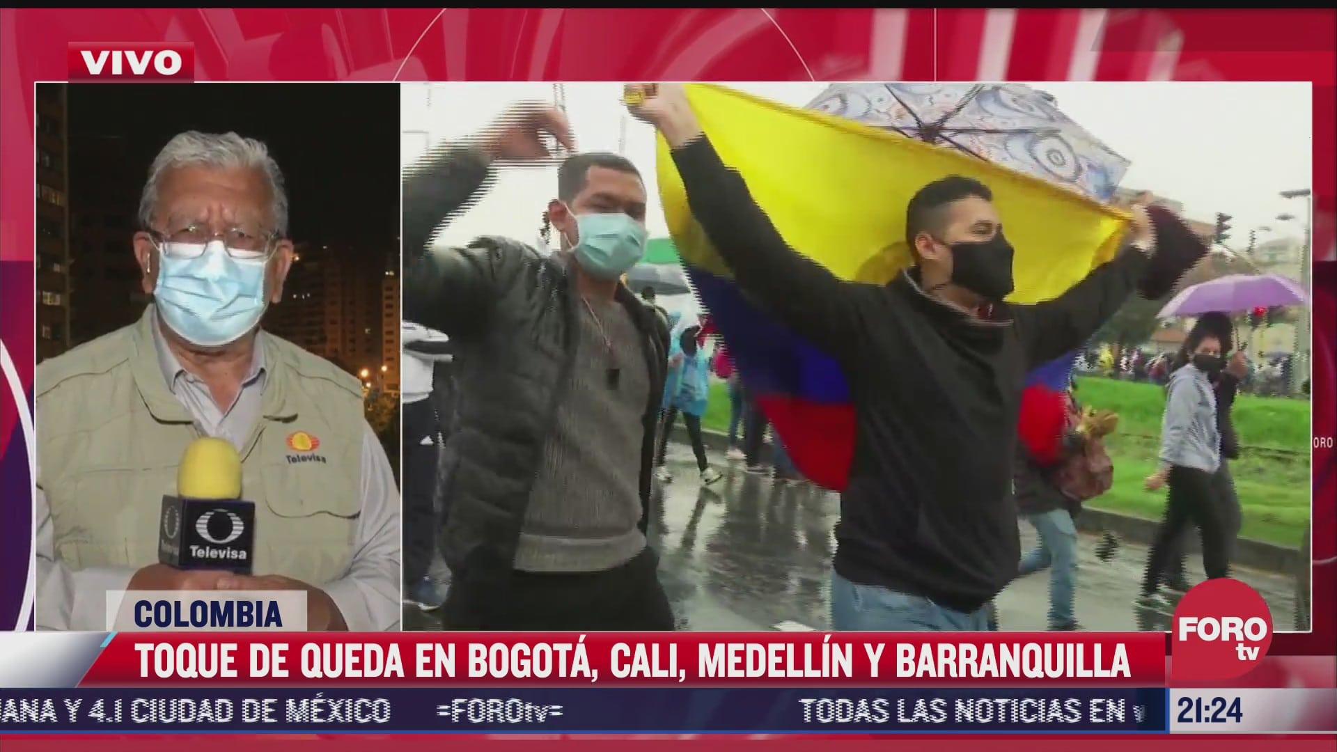 Toque de queda en Bogotá, Cali, Medellín y Barranquilla