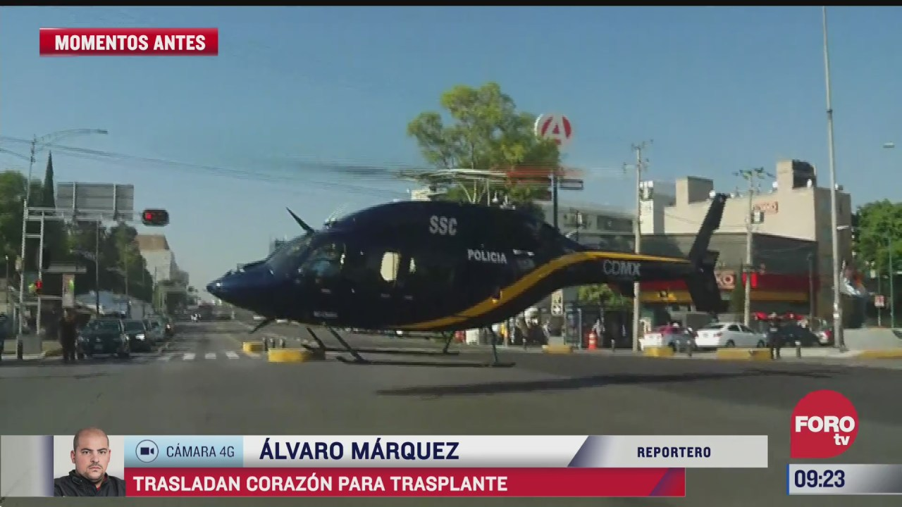 trasladan en helicoptero un corazon al hospital infantil de mexico