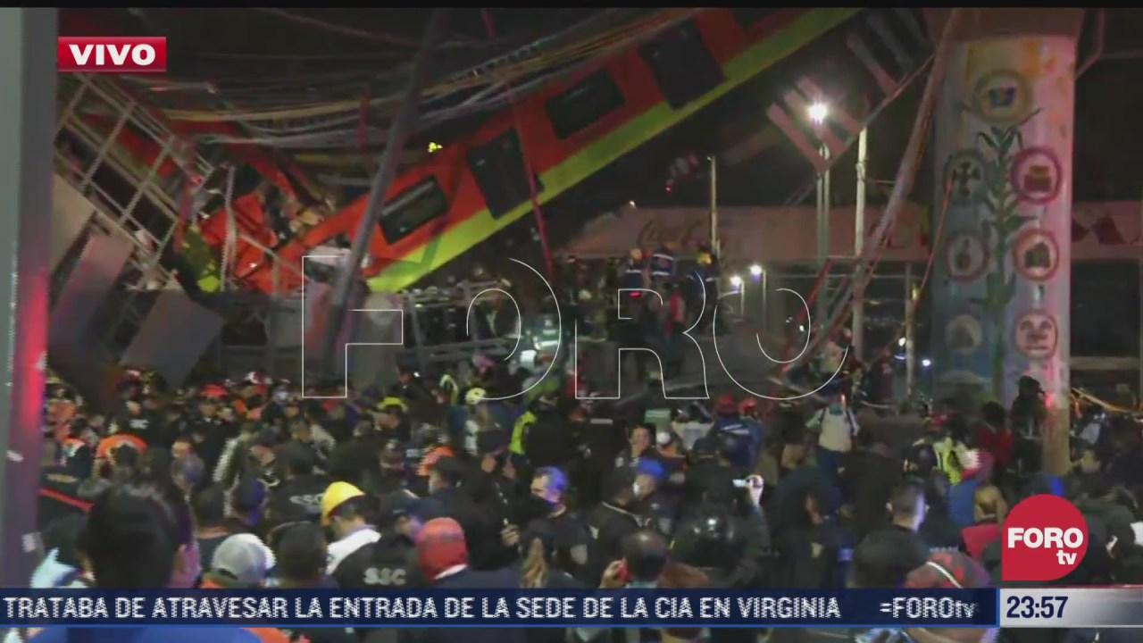 usuario sobreviviente del metro narra desplome del tren de la linea