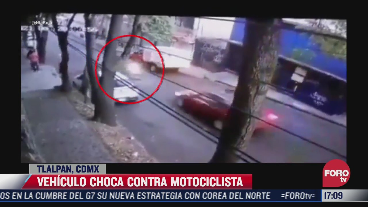 vehiculo choca contra motocicleta en tlalpan conductor se da a la fuga