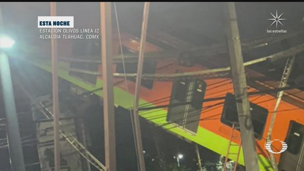 Video momento desplome del Metro Olivos en la Línea 12, CDMX
