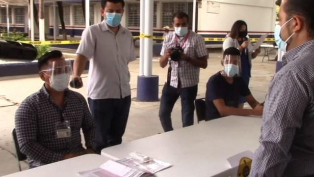 Órganos electorales federal y estatal realizaron ejercicio sobre el protocolo sanitario COVID-19 en Chiapas (Noticieros Televisa)