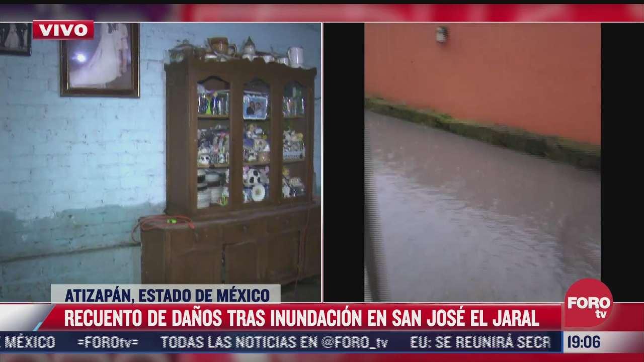 120 viviendas resultan afectadas por inundaciones en atizapan de zaragoza