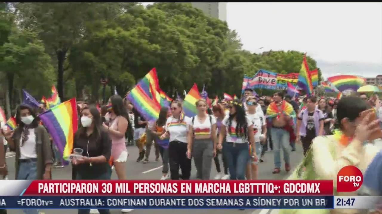 30 mil personas participaron en marcha lgbtttiq en cdmx