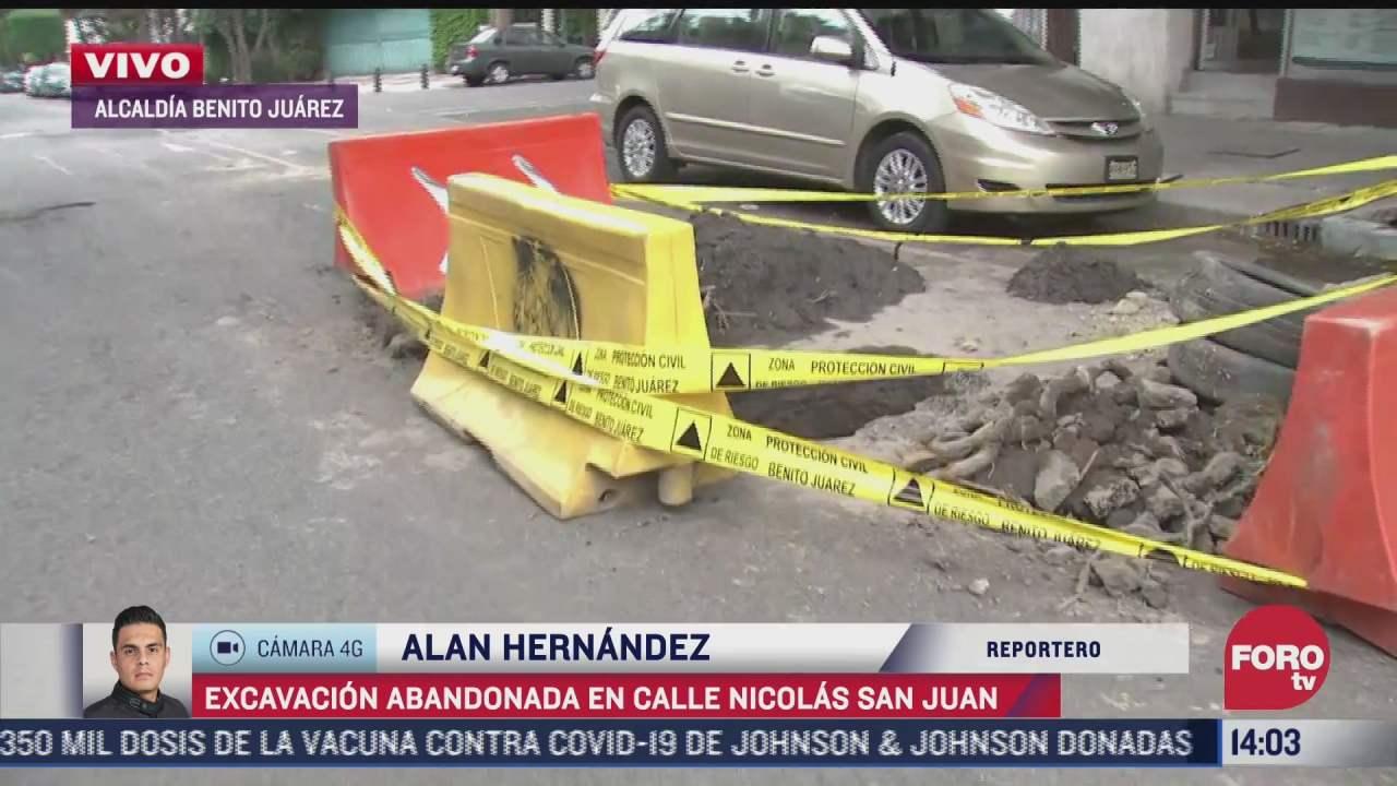 abandonan excavacion de socavon en la cdmx