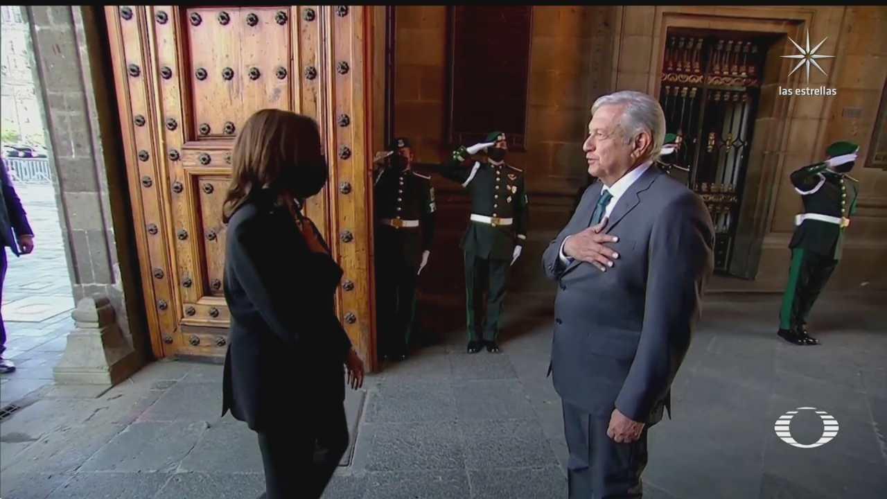 amlo recibe a la vicepresidenta de eu kamala harris