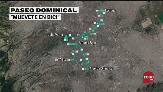 ampliaran ruta de paseo dominical muevete en bici
