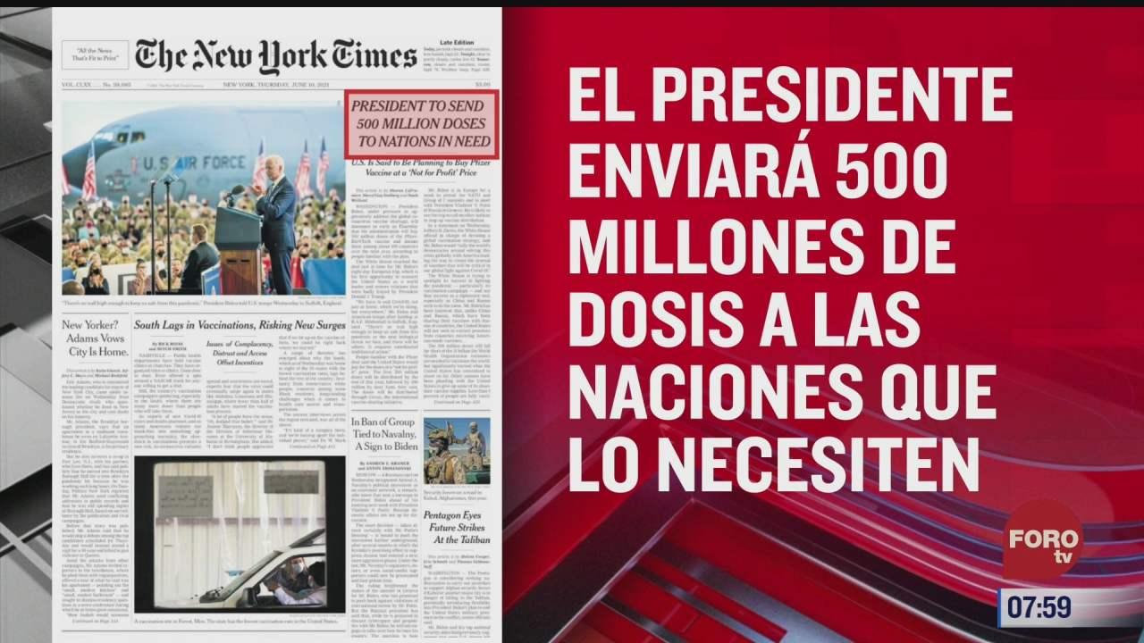analisis de las portadas nacionales e internacionales del 10 de junio del