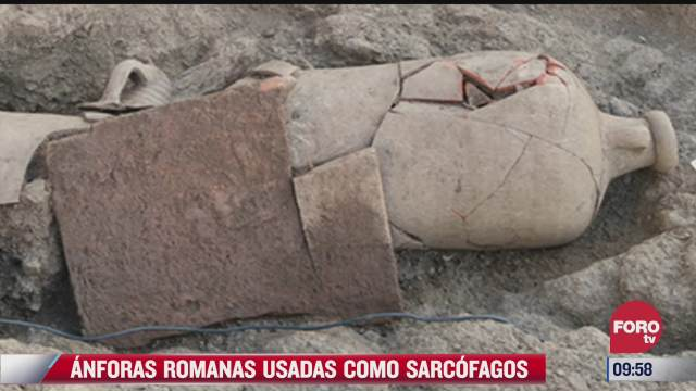 anforas romanas usadas como sarcofagos