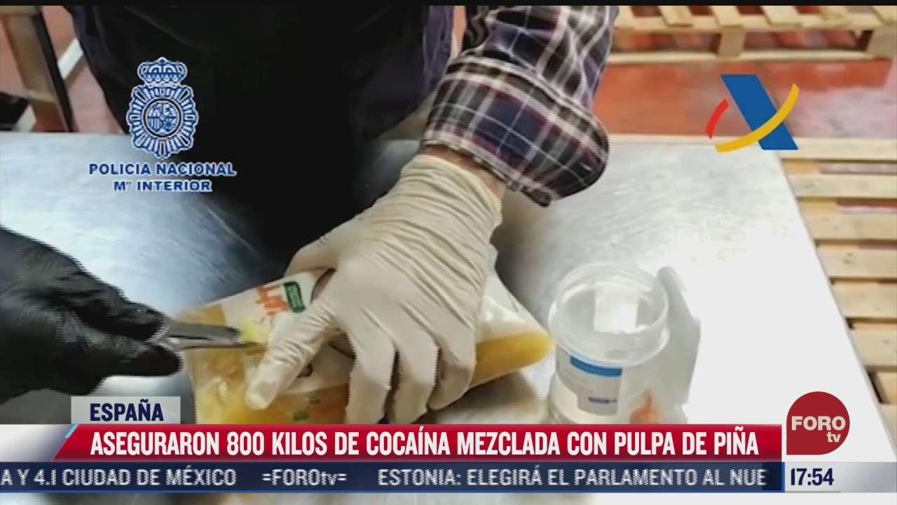 aseguran 800 kilos de cocaina mezclada con pulpa de pina