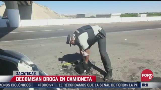 aseguran cuatro kilos de heroina en la carretera fresnillo zacatecas