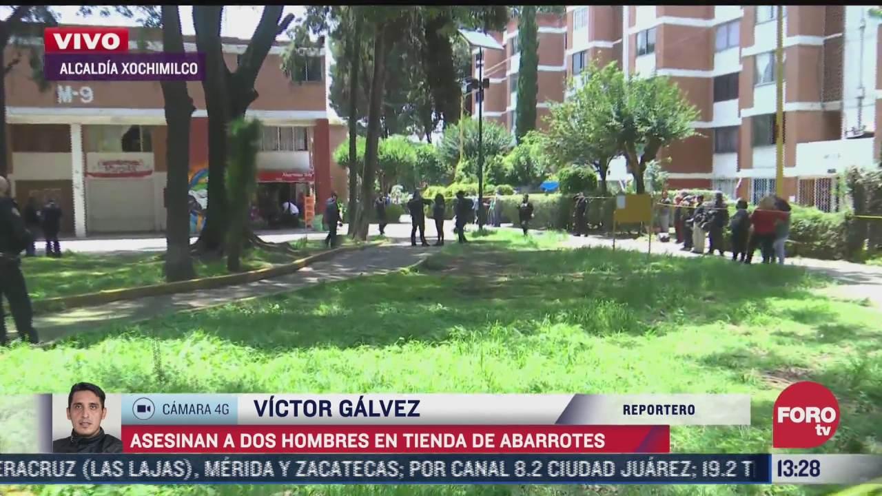 asesinan a dos hombres en tienda de abarrotes en la alcaldia xochimilco cdmx