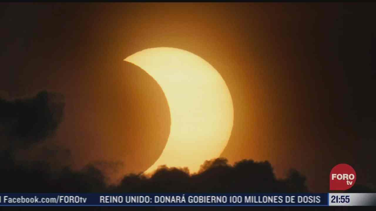 asi fue el impresionante eclipse solar que se observo en el hemisferio norte