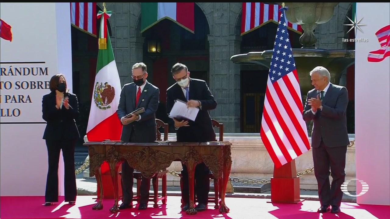 asi transcurrio la visita de kamala harris en mexico