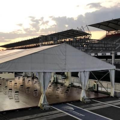 Instalación de hospital COVID-19 en el Autódromo Hermanos Rodríguez (Cuartoscuro)