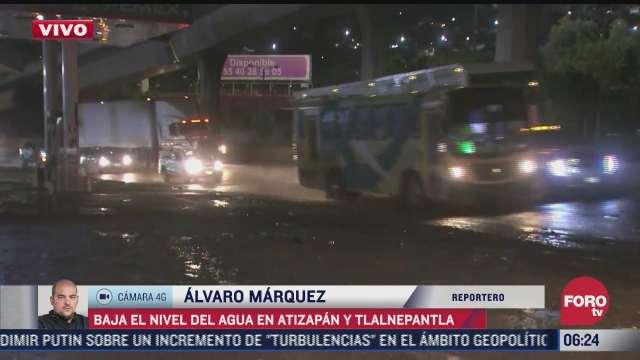 baja nivel de agua en atizapan y tlanepantla estado de mexico tras intensa lluvia