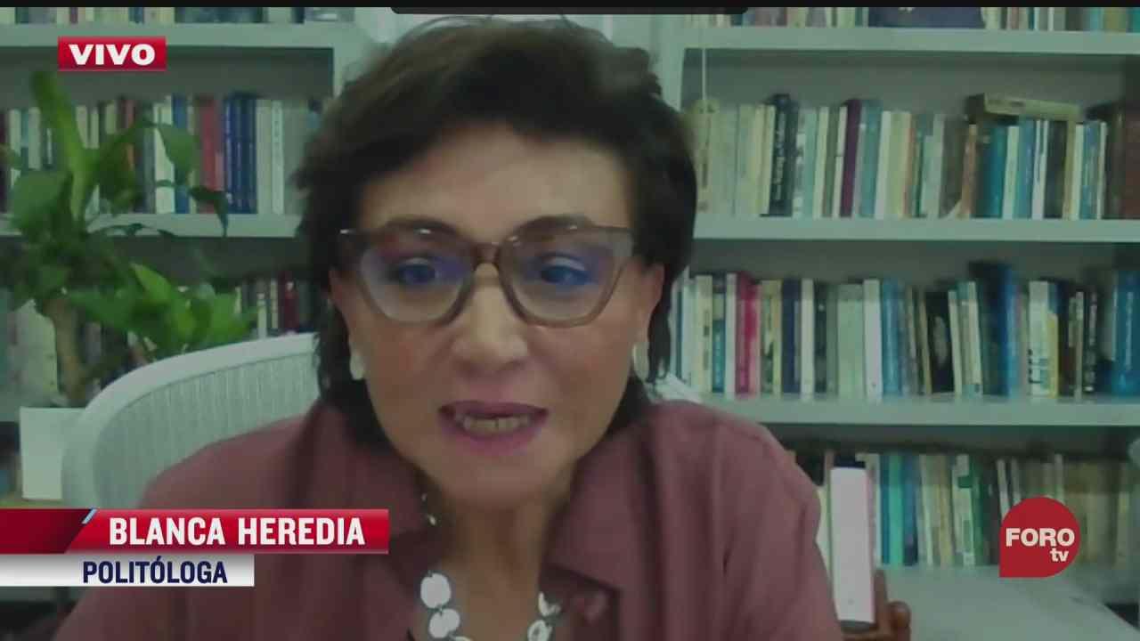 blanca heredia analiza declaraciones de partidos politicos en jornada electoral