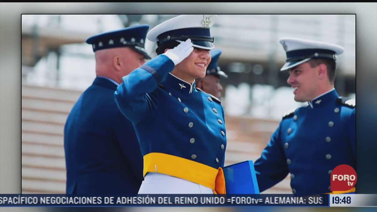 cadete mexicana se gradua de la academia de la fuerza aerea de eeuu