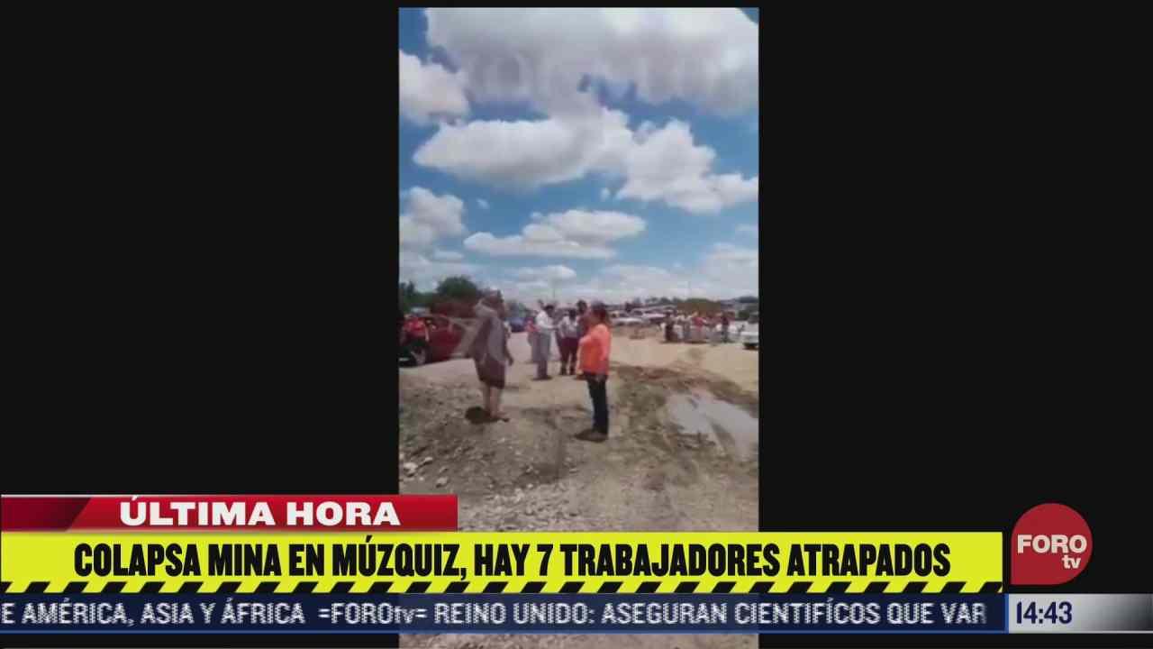 colapsa mina en muzquiz coahuila habria al menos 7 trabajadores atrapados