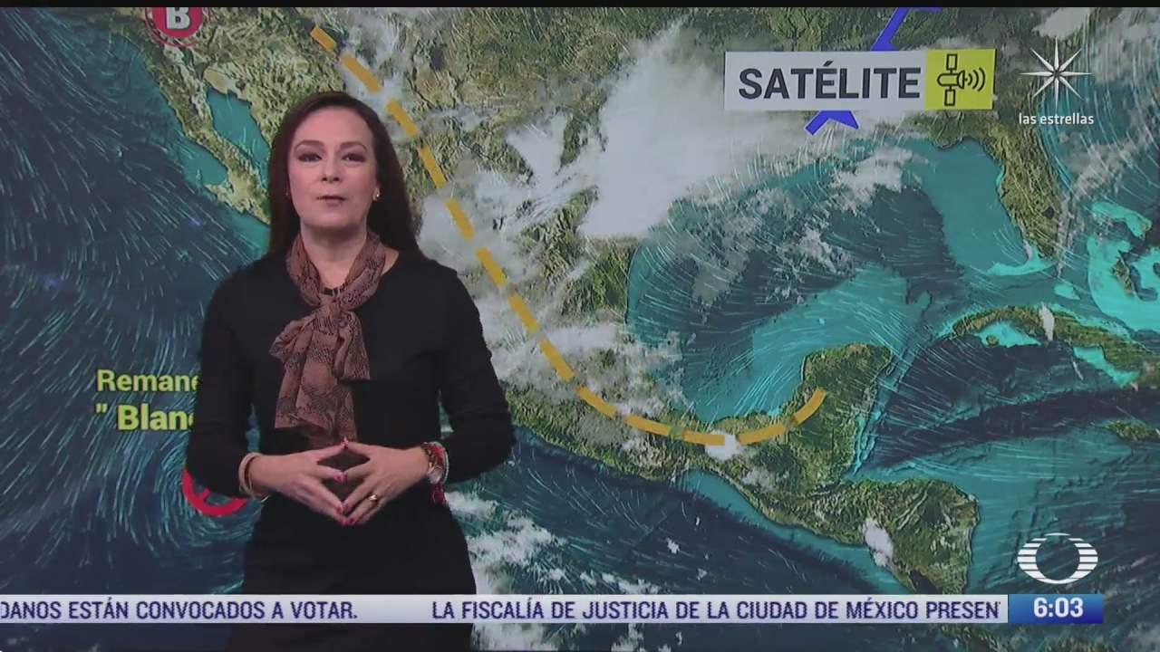 concentracion de nubosidad en gran parte del centro del pais