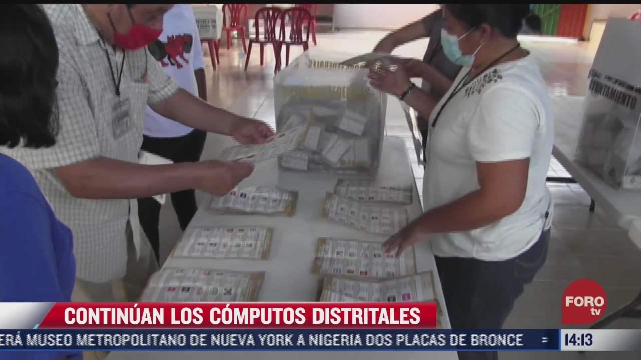 continuan computos distritales de eleccion