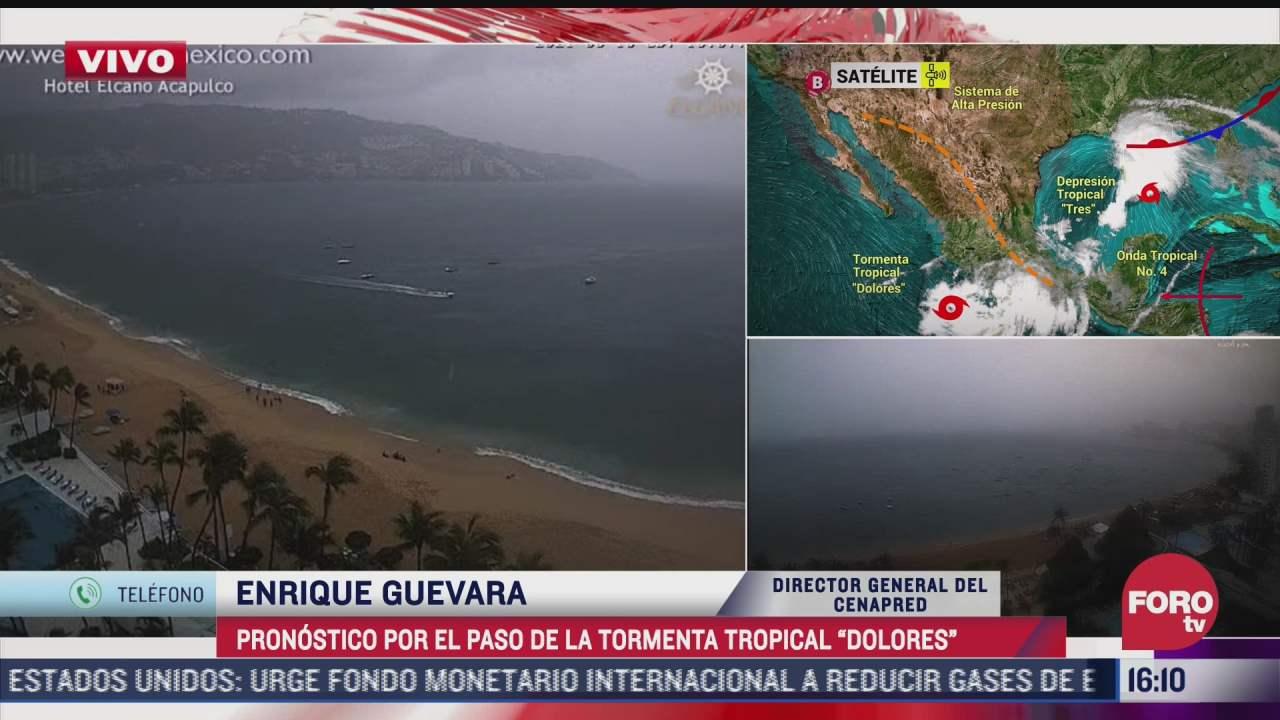continuaran las lluvias en las proximas horas por tormenta tropical dolores