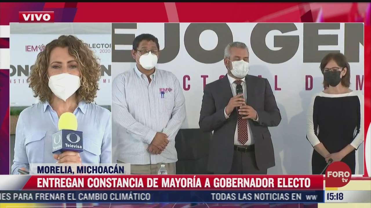 dan constancia como gobernador electo en michoacan