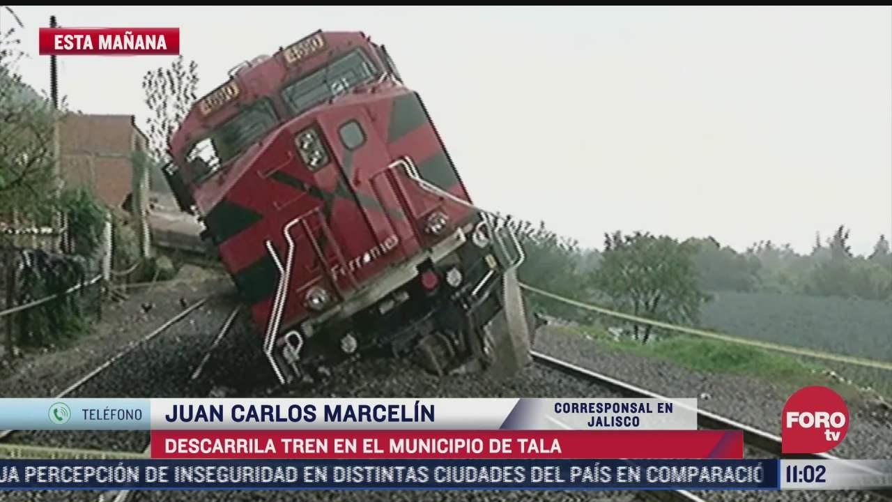 descarrila tren en el municipio de tala jalisco