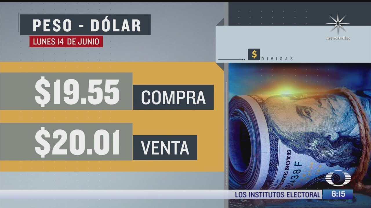 el dolar se vendio en 20 01 en la cdmx del 14 de junio del