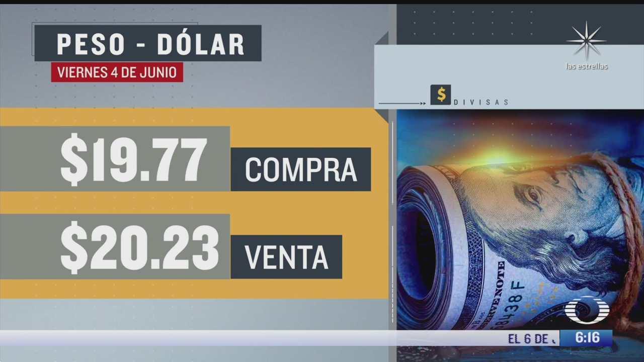 el dolar se vendio en 20 23 en la cdmx del 4 de junio del