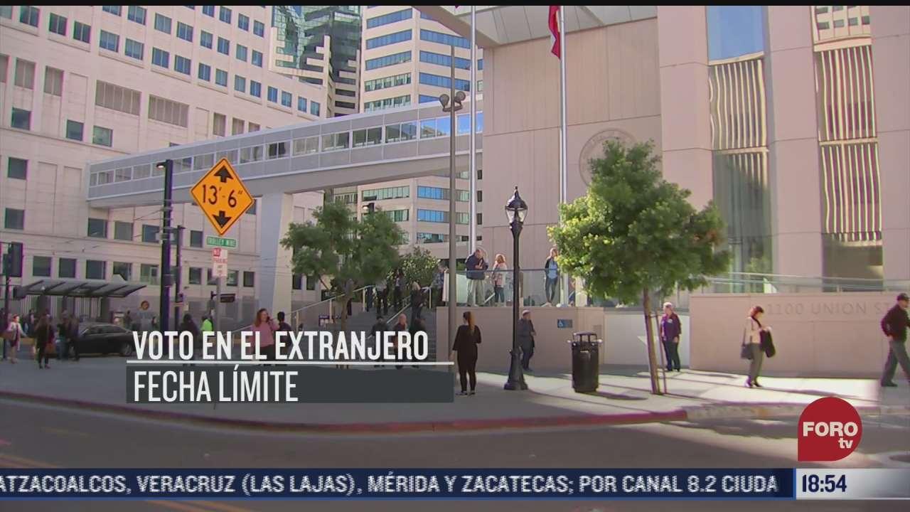 el voto en el extranjero para las elecciones en mexico