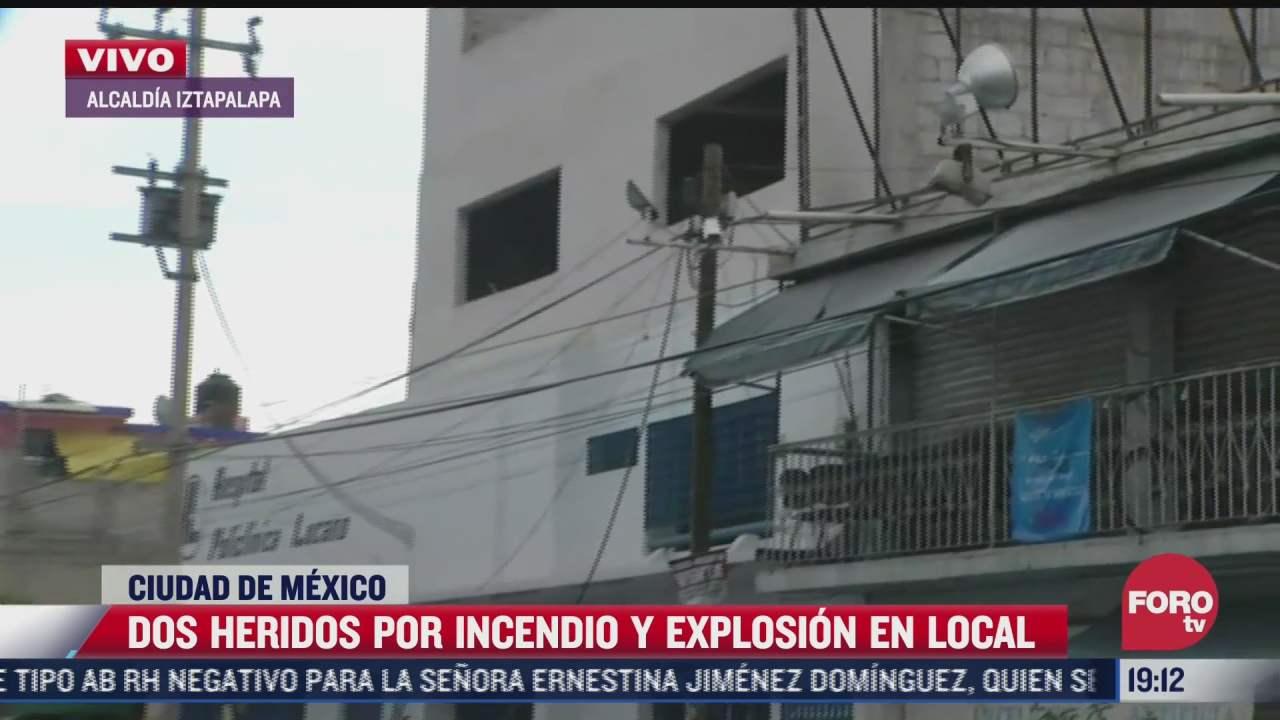 explosion en local de la alcaldia iztapalapa deja dos lesionados