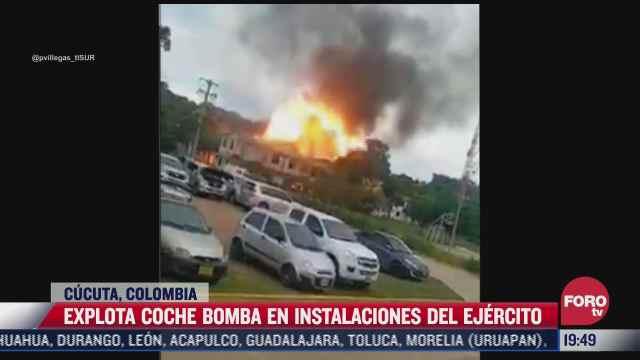 explota coche bomba en instalaciones militares en colombia