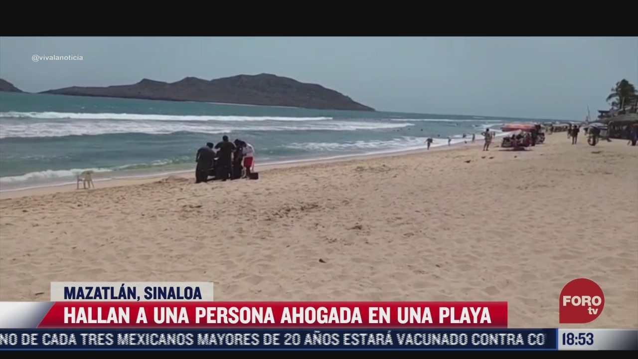 hallan el cuerpo de un hombre flotando en playa de mazatlan