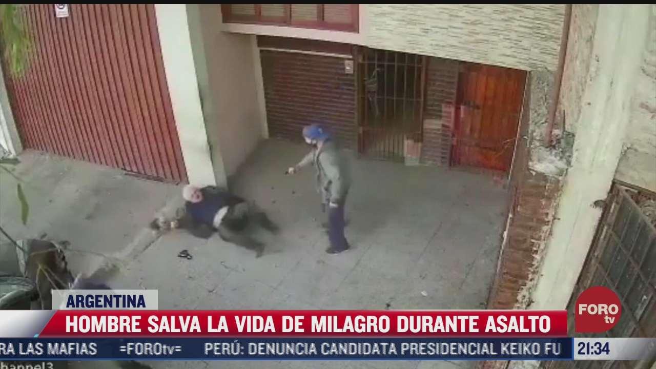 hombre salva la vida de milagro durante asalto
