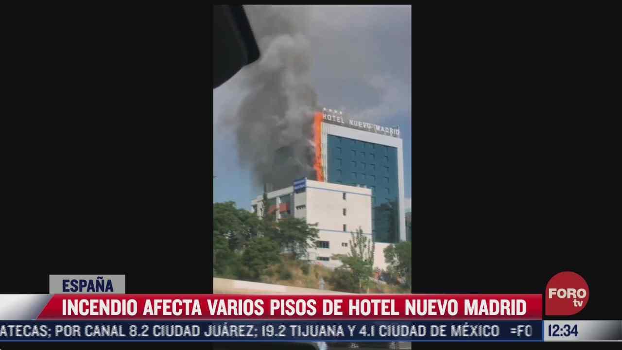 incendio afecta varios pisos de hotel en madrid