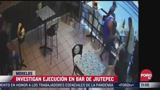 investigan ejecucion en bar de jiutepec morelos