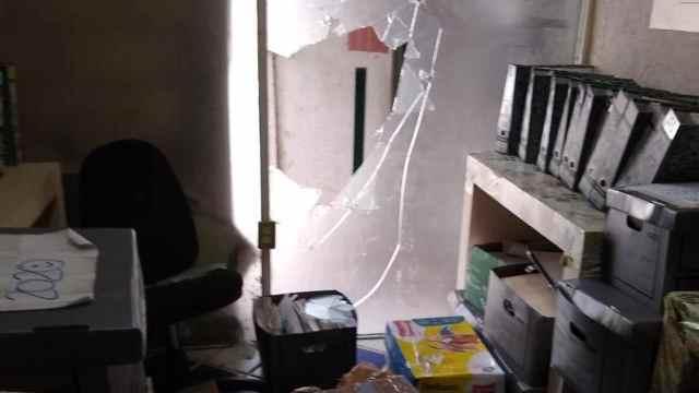 La CNTE vandaliza sindicato del SNTE y subsecretaría de Educación en Chiapas.