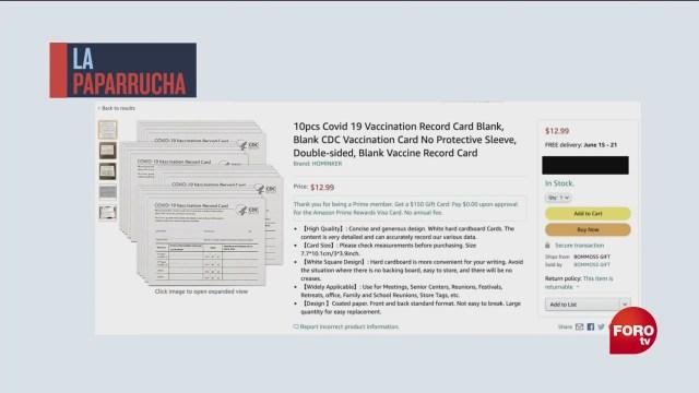 la venta de falsas tarjetas de vacunacion en eeuu la paparrucha del dia