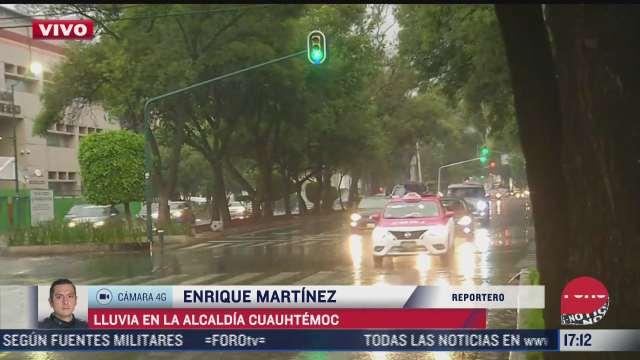 lluvia provoca encharcamientos en alcaldia cuauhtemoc