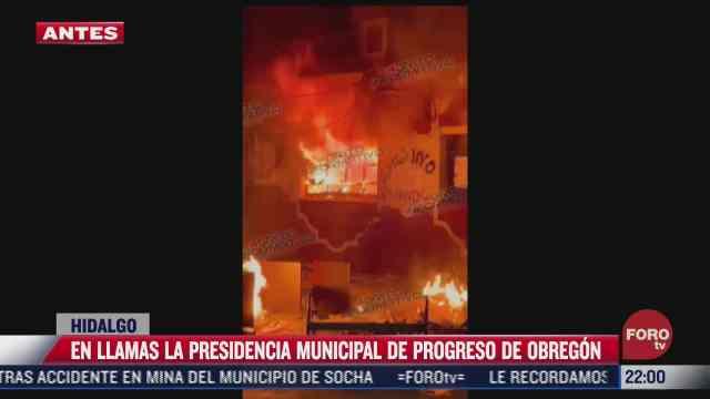 manifestantes incendian palacio municipal de progreso de obregon