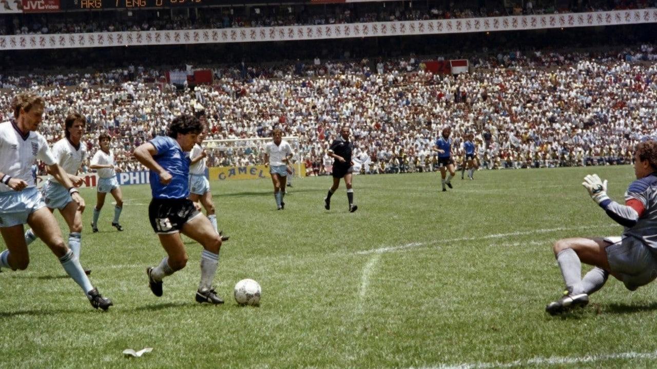 Diego Armando Maradona de Argentina, el 22 de junio de 1986 (Getty Images)