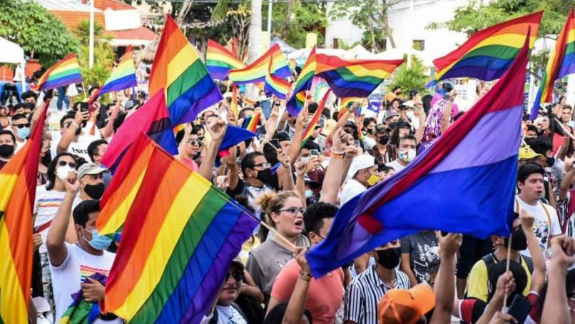 Marcha del orgullo Cancún