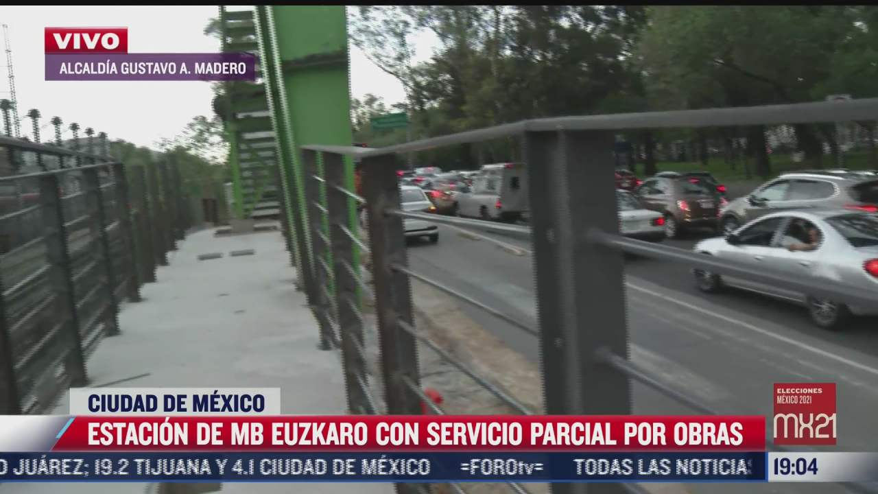 metrobus euzkaro ofrece servicio parcial debido a obras