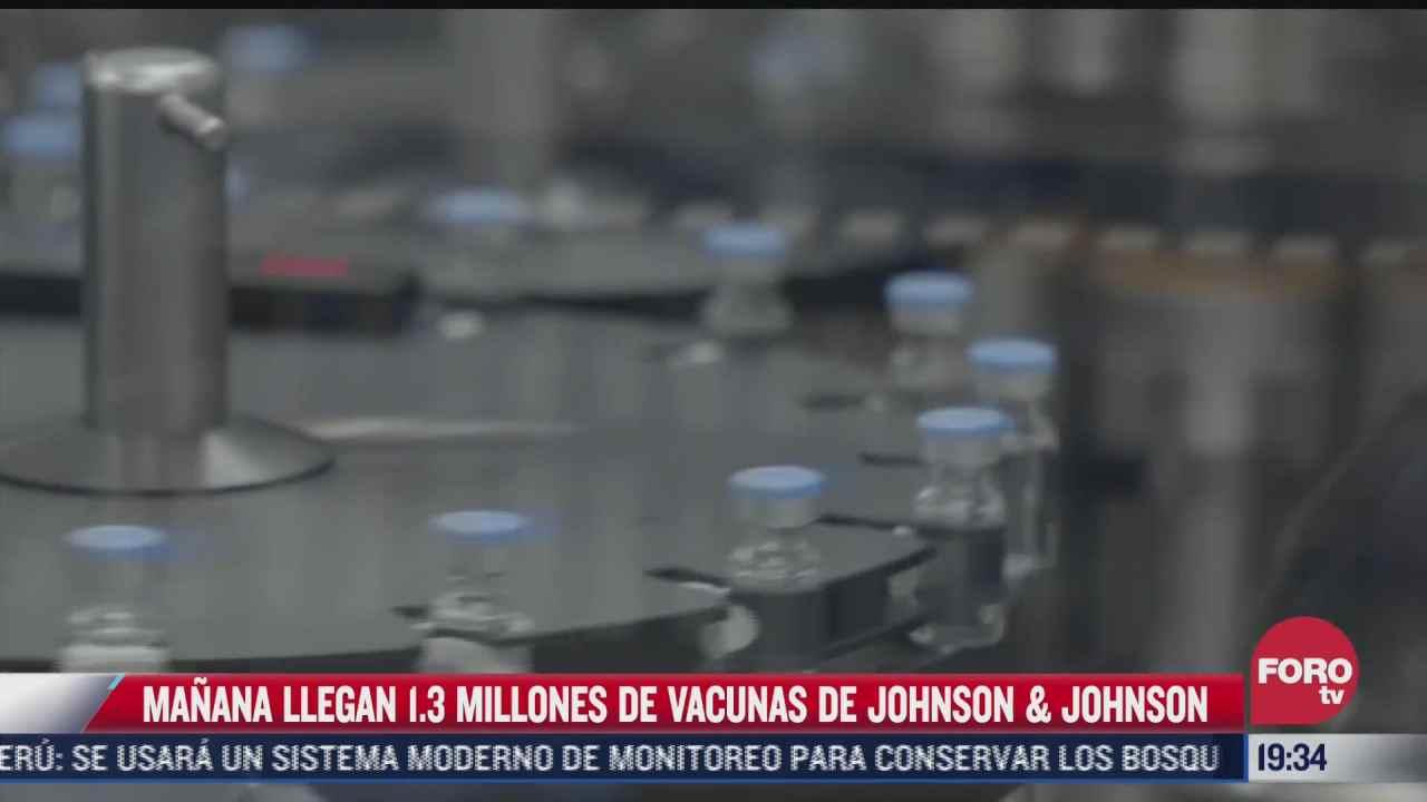 mexico recibira 1 3 millones de dosis de la vacuna de jj