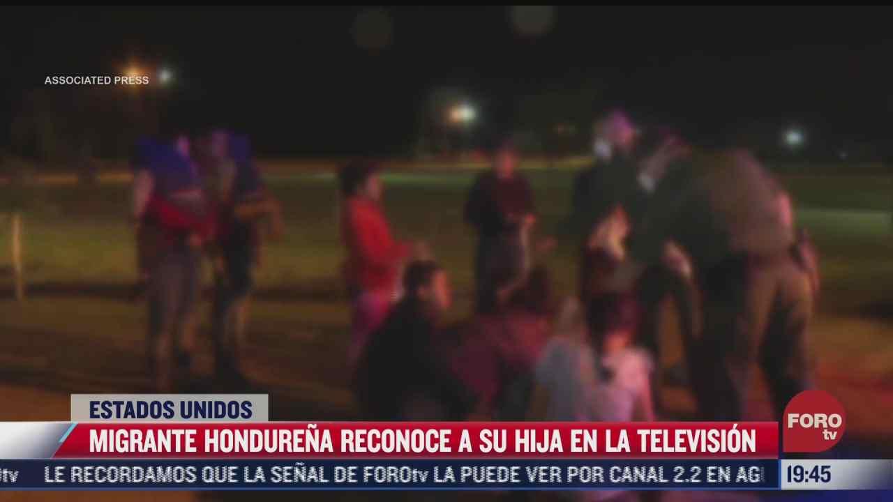 migrante hondurena reconoce a su hija en la tv