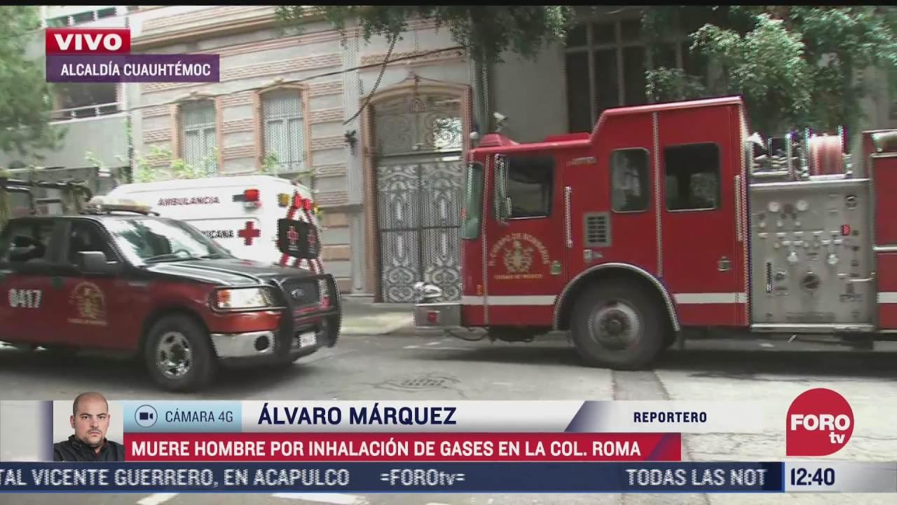 muere trabajador por inhalacion de gases en la colonia roma