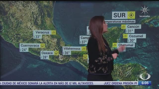 persistiran lluvias en centro de mexico